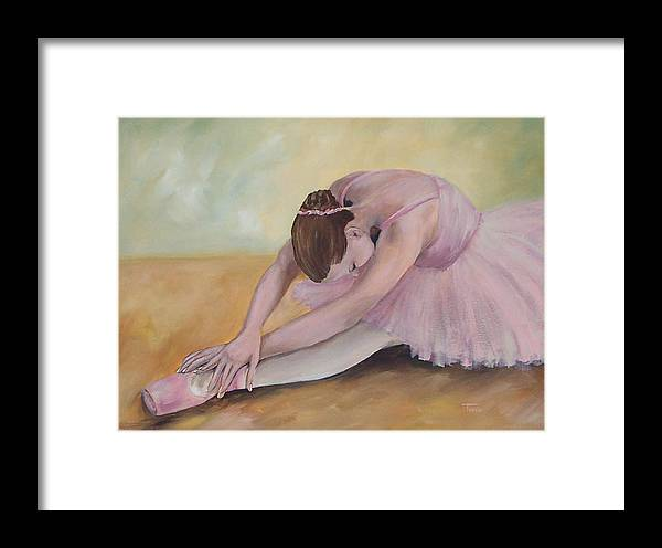 Dancer Framed Print featuring the painting Before The Ballet by Torrie Smiley
