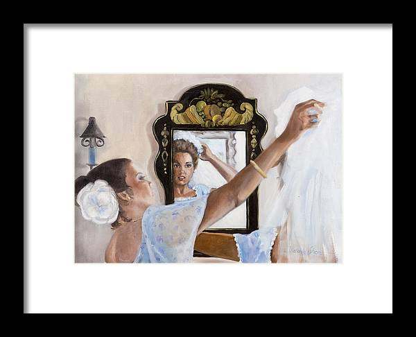 Portrait Framed Print featuring the painting Before The Ceremony by Victoria Shea