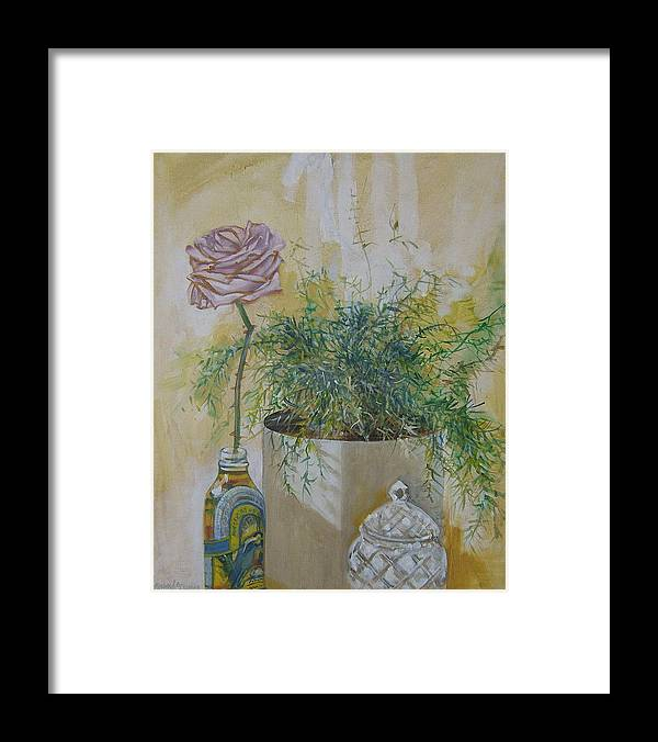 Rose Framed Print featuring the painting Before the Fall by Howard Stroman