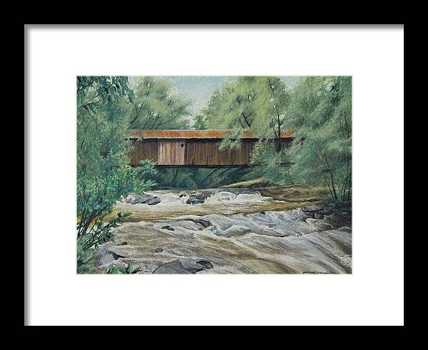 Landscape Framed Print featuring the painting Before The Fire by Peter Muzyka