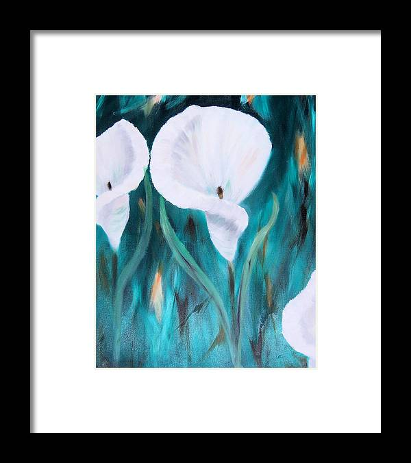Floral Framed Print featuring the painting Before The Frost by Penny Everhart