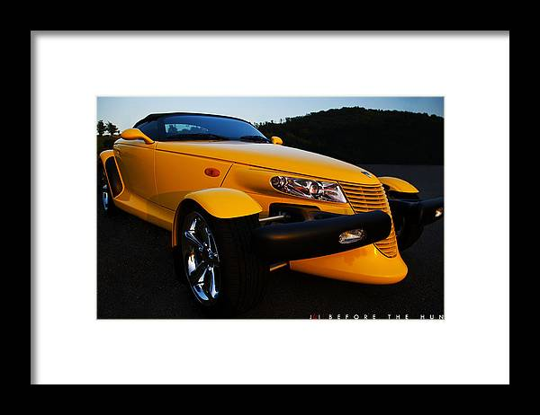 Car Framed Print featuring the photograph Before The Hunt by Jonathan Ellis Keys
