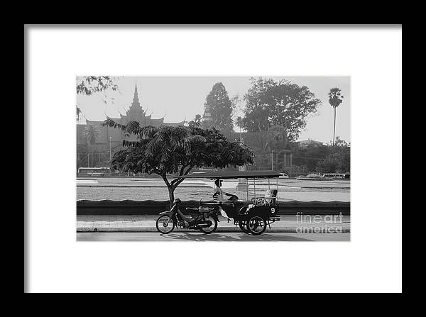 Cambodia Framed Print featuring the photograph Before The Museum by Louise Fahy