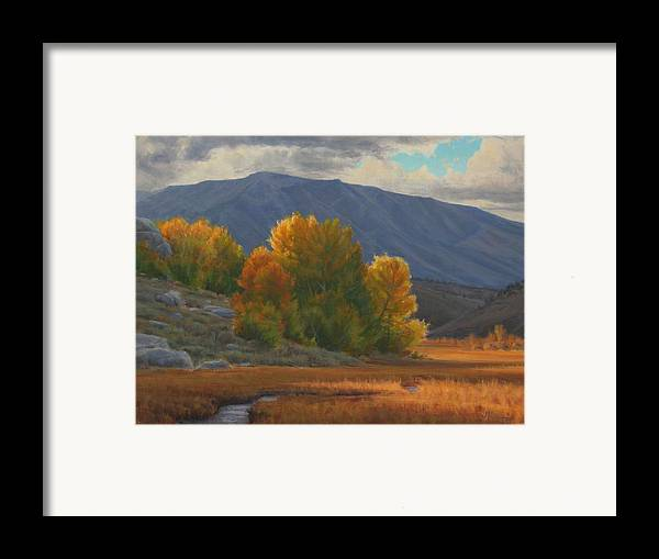 Auntumn Framed Print featuring the painting Before The Snow by Joe Mancuso