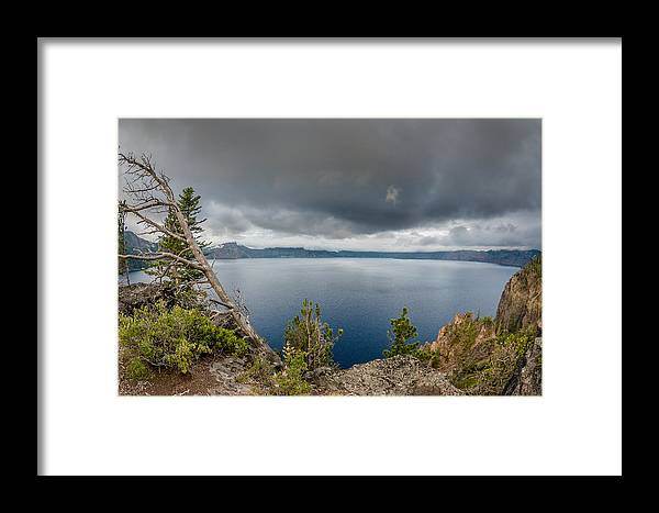 Crater Lake Framed Print featuring the photograph Before The Storm by Greg Nyquist