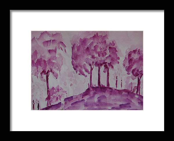 Nature Framed Print featuring the painting Begining Of Ending by Rima