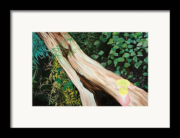 Tree Framed Print featuring the painting Beginning Life by Sunhee Kim Jung