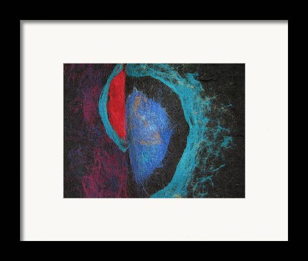 Felt Framed Print featuring the tapestry - textile Behind All Limits by Kseniya Nelasova