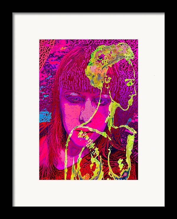 Human Composition Framed Print featuring the painting Behind Reality by Noredin Morgan