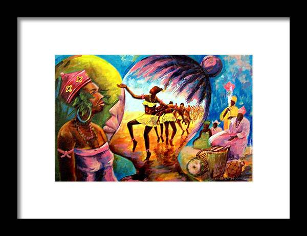 Glory Framed Print featuring the painting Behind The Glory by Wale Adeoye