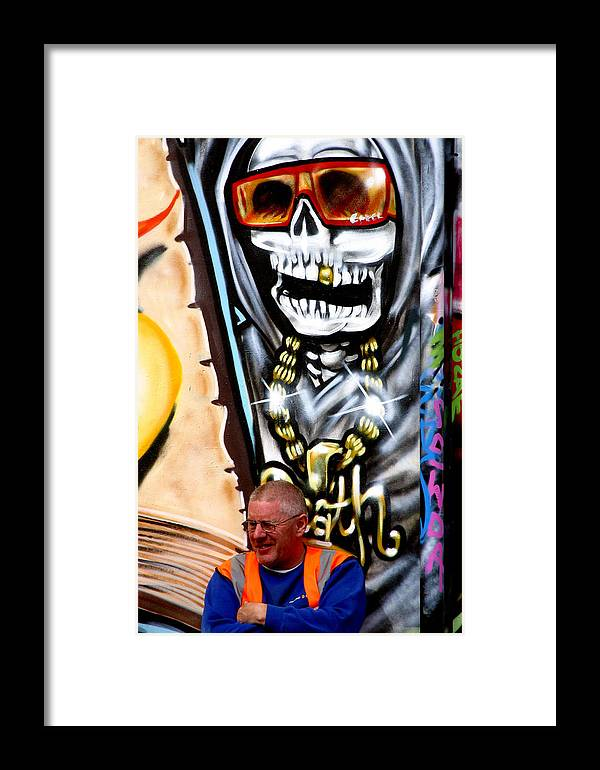 Grafitti Framed Print featuring the photograph Behind You by Jez C Self