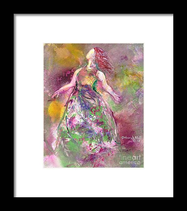 Woman Framed Print featuring the painting Behold My Beloved by Deborah Nell