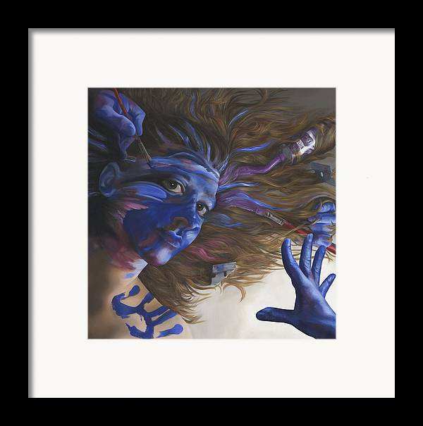 Surreal Framed Print featuring the painting Being Art by Katherine Huck Fernie Howard