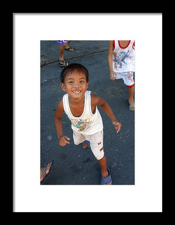 Photographer Framed Print featuring the photograph Being Kids 6 by Jez C Self