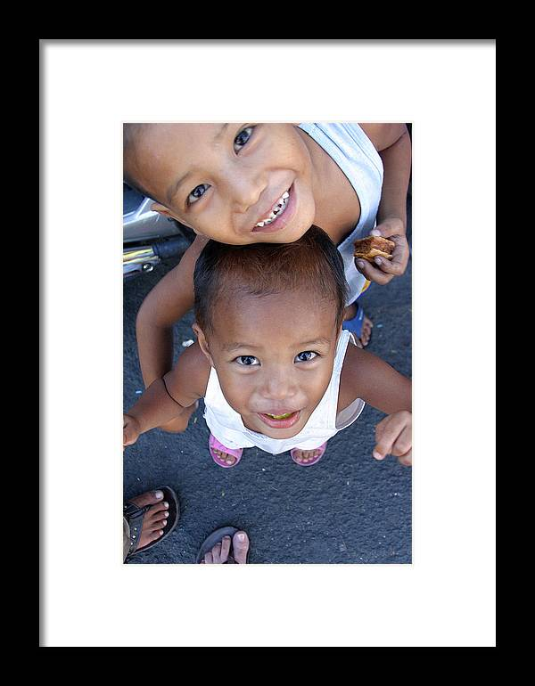 Photographer Framed Print featuring the photograph Being Kids by Jez C Self