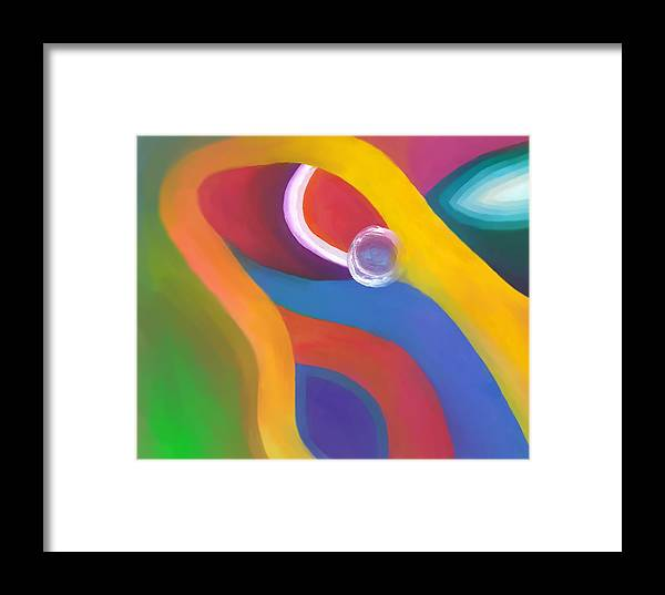 Abstract Framed Print featuring the drawing Being Love by Peter Shor