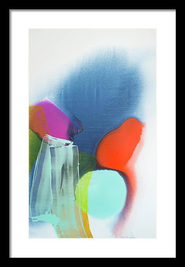 Abstract Framed Print featuring the painting Being Sincere by Claire Desjardins