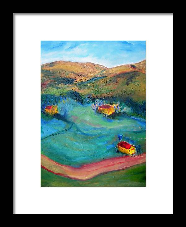 Landscape Framed Print featuring the painting Beit Shemesh by Suzanne Udell Levinger