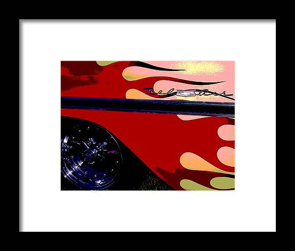 Car Framed Print featuring the photograph Bel Air by Audrey Venute
