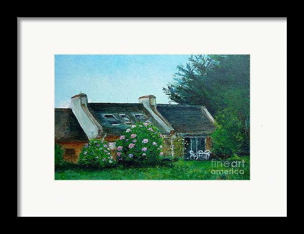Bretagne Framed Print featuring the painting Bel-ile-en-mer by Lizzy Forrester