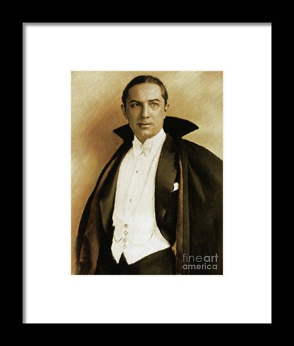 Bela Framed Print featuring the painting Bela Lugosi As Dracula by Mary Bassett