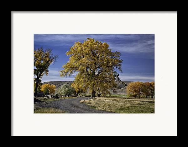 Beautiful Photos Framed Print featuring the photograph Belfry Fall Landscape 5 by Roger Snyder