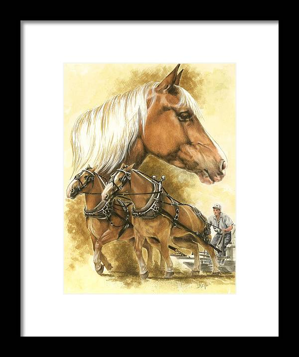 Equus Framed Print featuring the mixed media Belgian by Barbara Keith