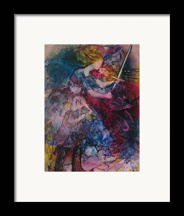 Woman Framed Print featuring the painting Believe And Decree by Deborah Nell