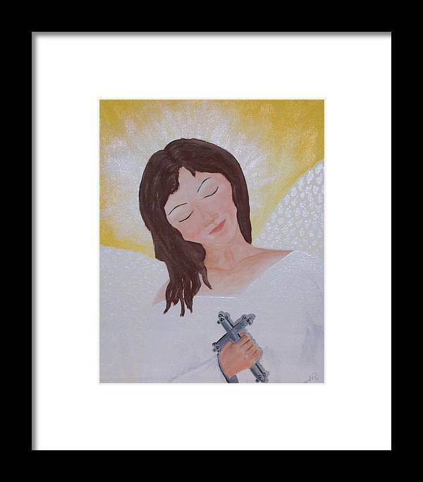 Angel Framed Print featuring the painting Believe by Jennifer Hernandez