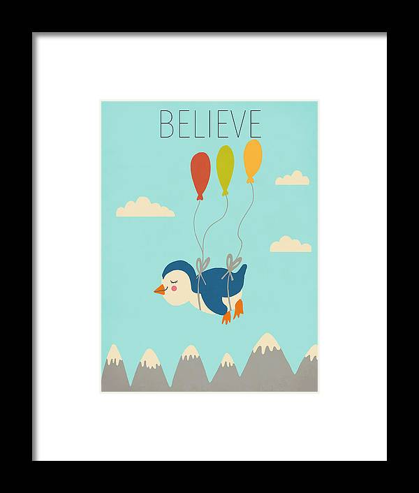 Believe Framed Print featuring the digital art Believe by Nicole Wilson