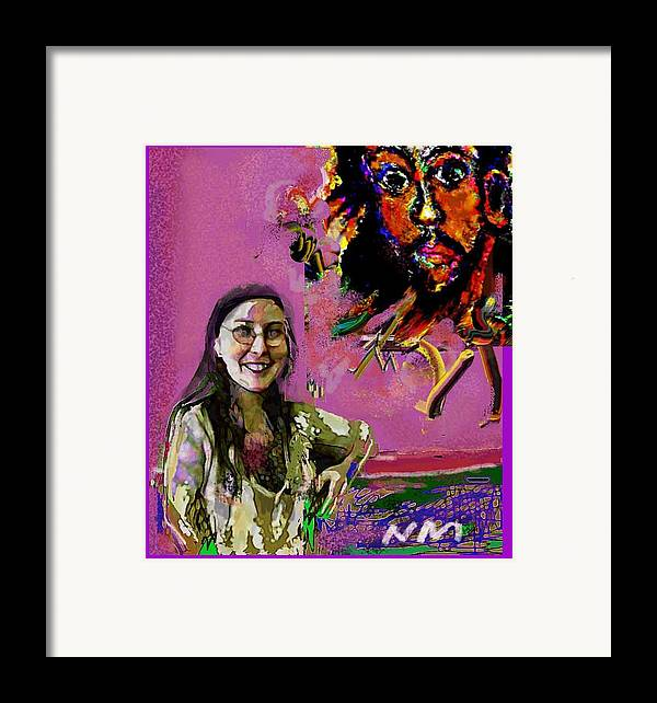 Human Composition Framed Print featuring the print Believe by Noredin Morgan