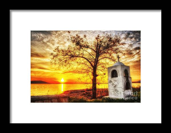 Believe Framed Print featuring the photograph Believers Sunset by V-Light Photography