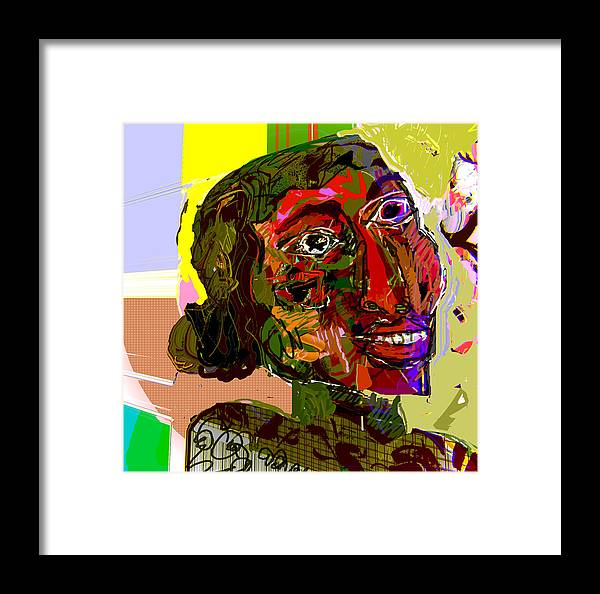 Eyes Framed Print featuring the mixed media Belive 2 by Noredin Morgan