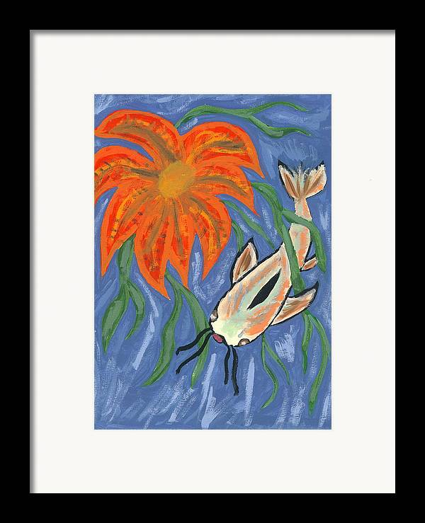 Flower Framed Print featuring the painting Belize by Laura Lillo