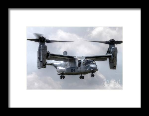 Aircraft Framed Print featuring the photograph Bell Boeing V-22 Osprey by Rick Mann