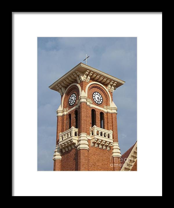 Clocks Framed Print featuring the photograph Bell Tower by Ann Horn