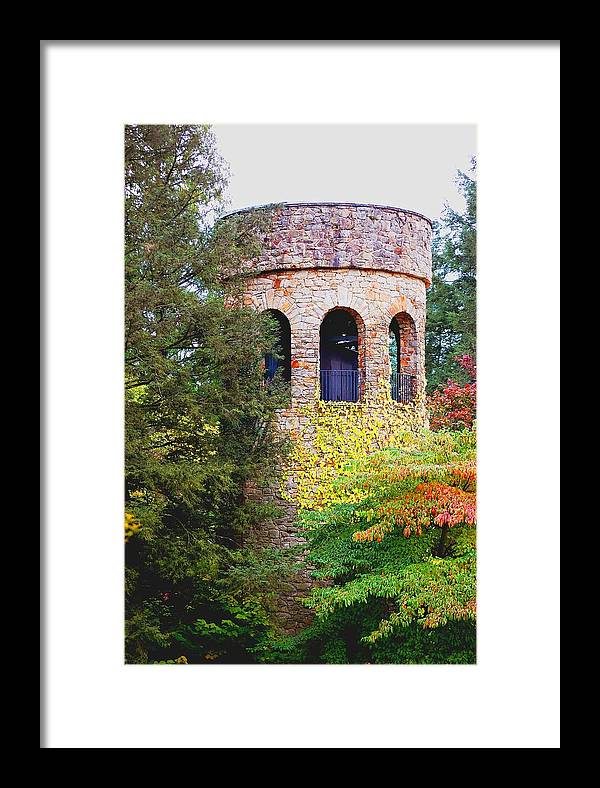 Bell Framed Print featuring the digital art Bell Tower by Richard Ortolano
