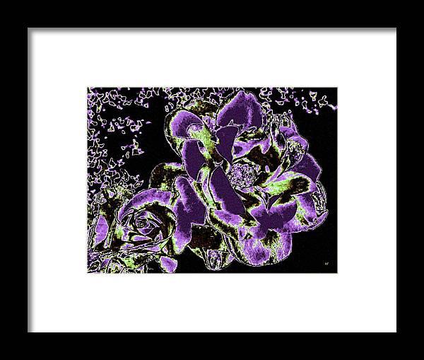 Bella Flora Framed Print featuring the digital art Bella Flora 5 by Will Borden