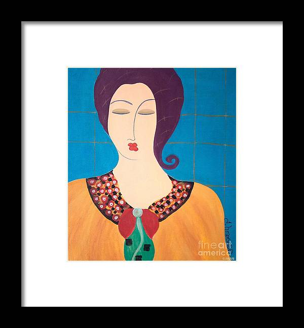 #female #figurative #photography # Fineart #art #images #painting #artist #painter #artlover Framed Print featuring the painting Bella by Jacquelinemari
