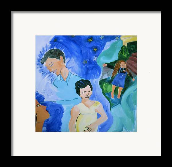 Spiritual Family Portrait Framed Print featuring the painting Bella by Nina Talbot
