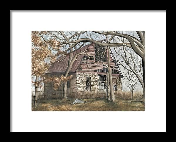Barn Framed Print featuring the painting Bella Vista Barn by Patty Vicknair
