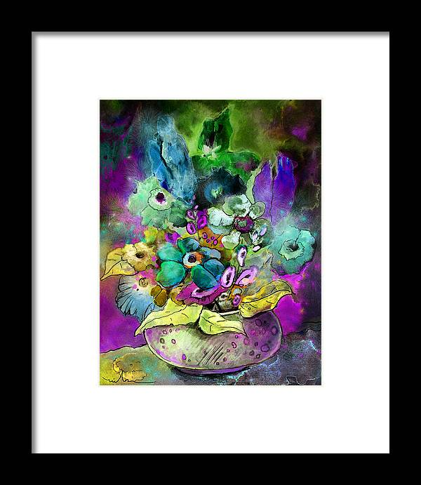 Flowers Framed Print featuring the painting Belle De Nuit by Miki De Goodaboom