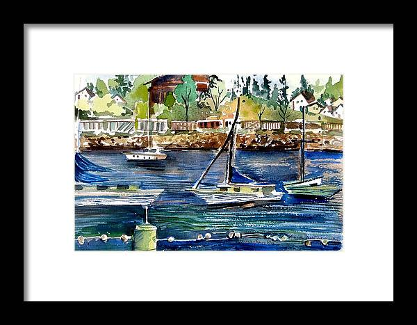 Bellingham Framed Print featuring the painting Bellingham Washington The Beauty by Mindy Newman