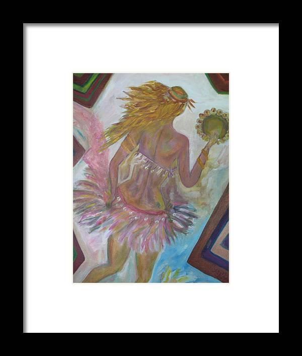 Maria Kolucheva Framed Print featuring the painting Belly Dancer Flashdance by Maria Kolucheva