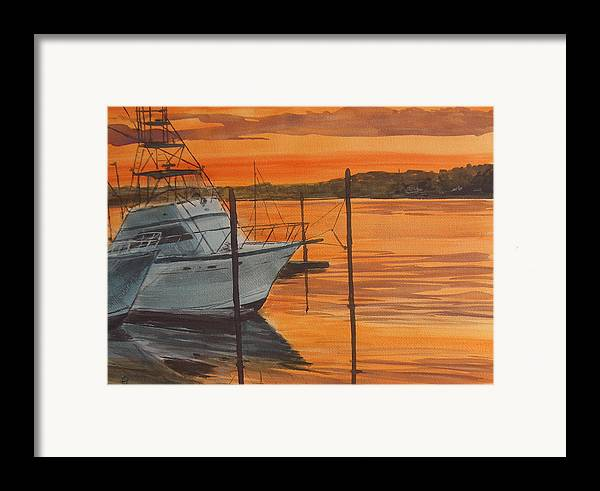 Sunset Framed Print featuring the painting Belmar Sunset by Pete Maier