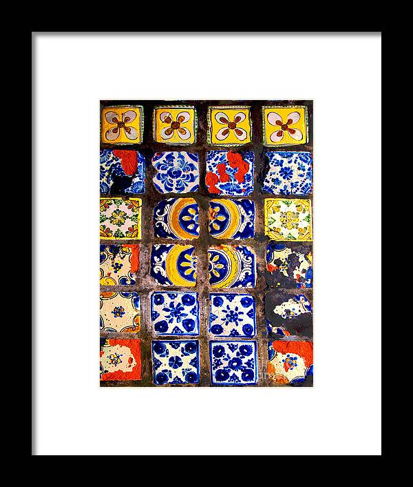 Darian Day Framed Print featuring the photograph Belmar Tiles By Darian Day by Mexicolors Art Photography