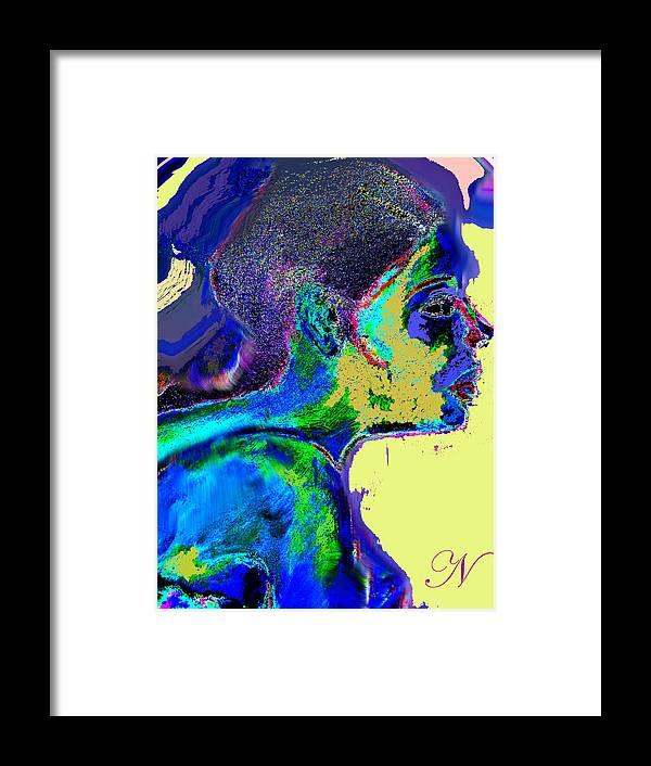 Portrait Framed Print featuring the digital art Belong by Noredin Morgan