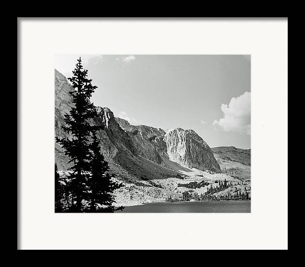 Landscape Framed Print featuring the photograph Below Medicine Bow by Allan McConnell