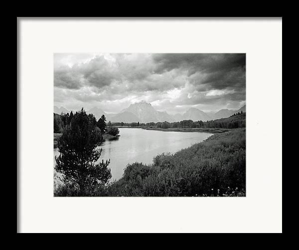 Landscape Framed Print featuring the photograph Below The Tetons by Allan McConnell