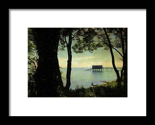 Trees Framed Print featuring the digital art Bembridge Lifeboat Station by Sarah Vernon